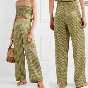 Cloe Cassandro's 'Coco' silk wide leg pants M BA1